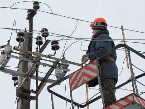 Электроснабжение граждан Ростовской области восстановлено