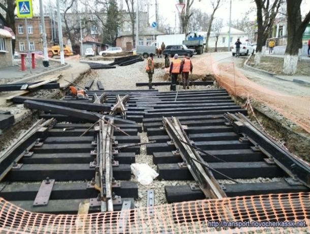 В задержке ремонта трамвайных путей администрация Новочеркасска винит погоду