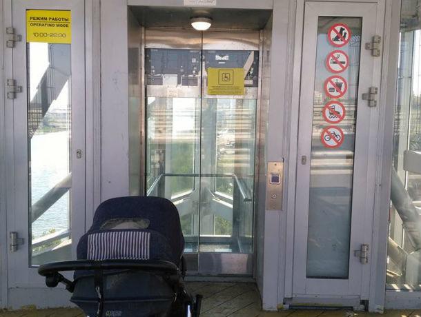 Закрытые и грязные после чемпионата по футболу лифты на Ворошиловском мосту взбесили ростовчан