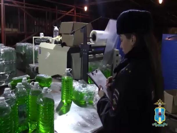 В Ростовской области полицейские обнаружили подпольный цех по изготовлению «незамерзайки»