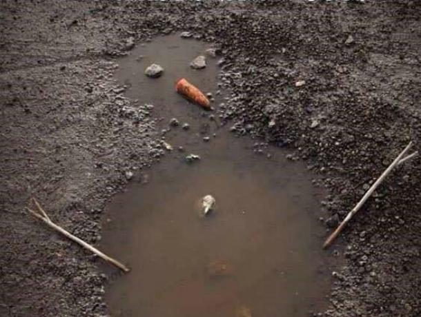 Смешных снеговиков из луж и грязи лепят «от безысходности» жители Ростова