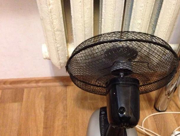 Ростовчане спасаются от холода вентиляторами