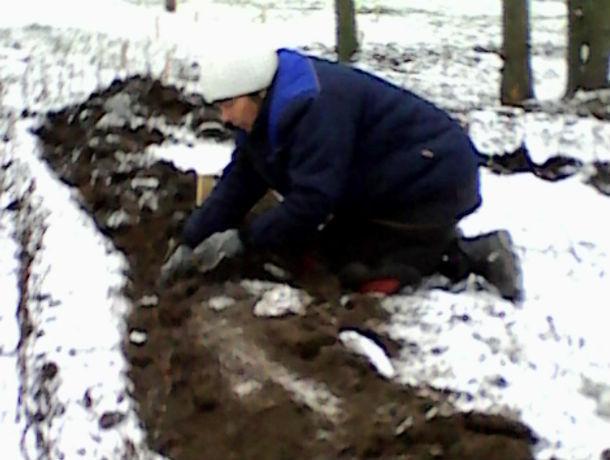 Цветы в снег высадили под Ростовом к приезду большого начальства
