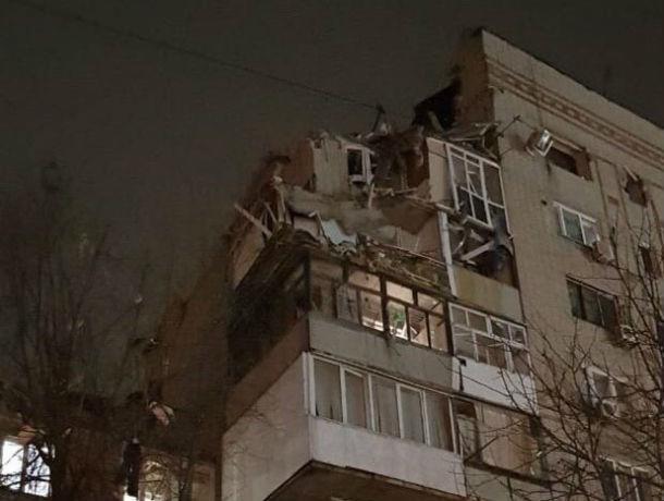 Появилось первое фото взорвавшегося под Ростовом жилого дома