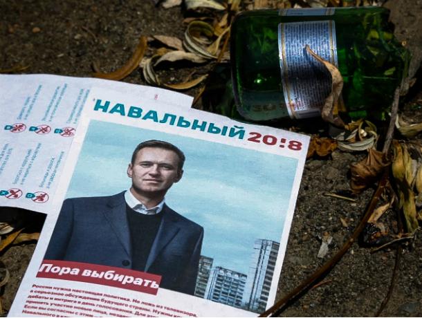 Портреты Навального украсили помойку на окраине Ростова