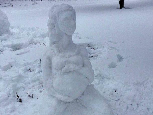 После новогодних праздников под Ростовом загадочно забеременел снеговик