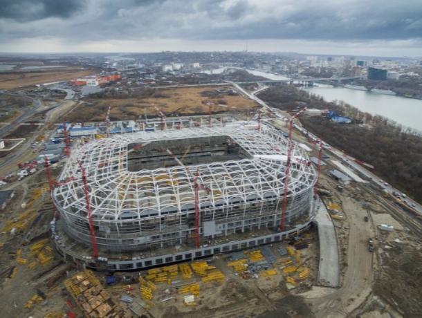 На «Ростов-Арене» окончено устройство нижнего слоя футбольного поля