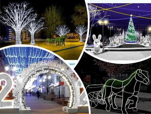 На новый год Ростов снова украсят световые деревья и повозка с лошадью