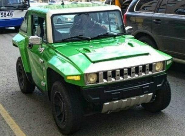 Ростовчанин изавтомобиля «Ока» сделал зеленый мини-«Хаммер»