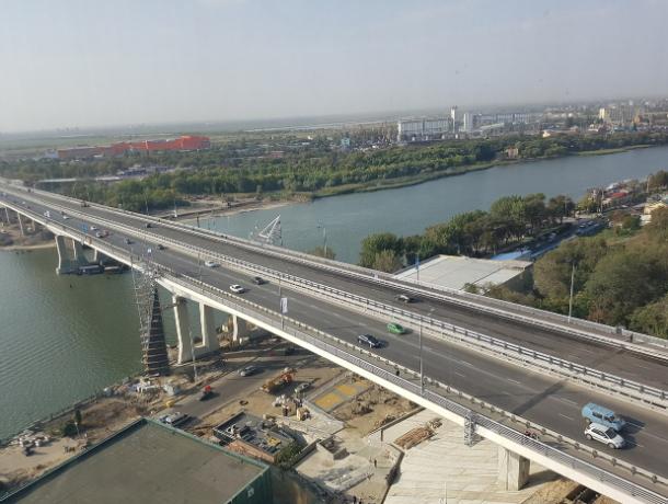ВРостове навсе 100% открыто движение поВорошиловскому мосту