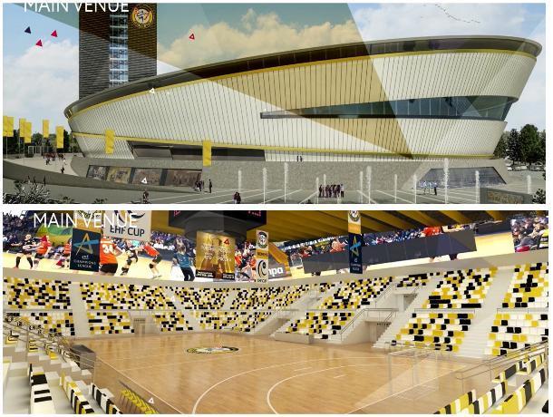 Стало известно, как будет выглядеть новая «Гандбол Арена» в Ростове