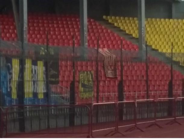 Перед матчем с тульским «Арсеналом» ростовчане вывесили на трибуне ковер