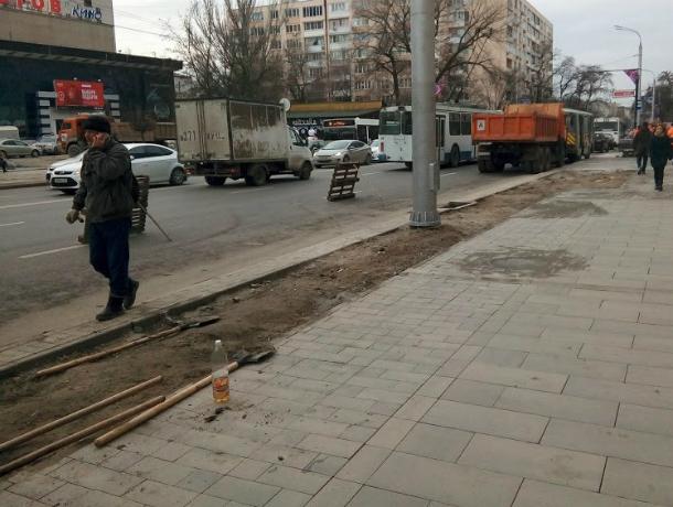 Сроки укладки притки на Большой Садовой в Ростове снова сорваны