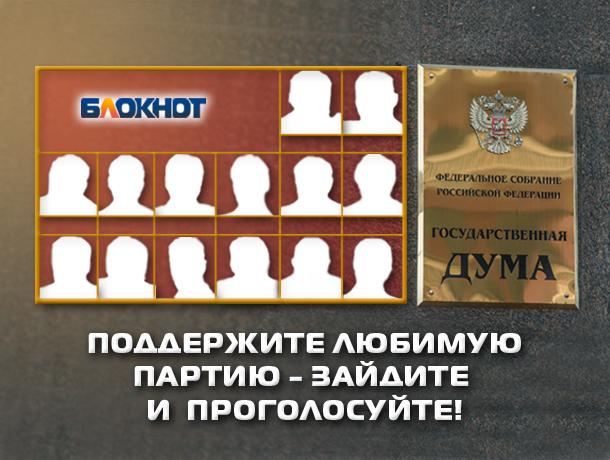 «Блокнот Ростова» предлагает читателям отдать свой голос за наиболее достойную партию