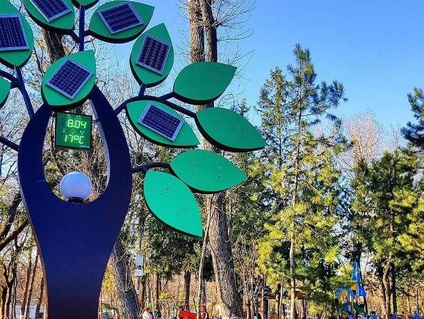 Солнечное дерево, измеряющее радиоактивный фон в парке Островского, пугает жителей Ростова