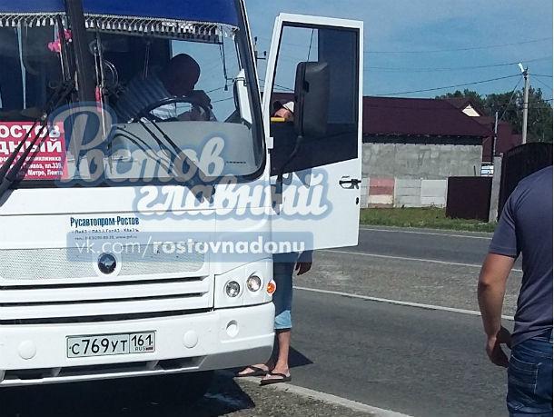 «Баллончиковый» конфликт водителей под Ростовом ударил по беременным пассажиркам маршрутки