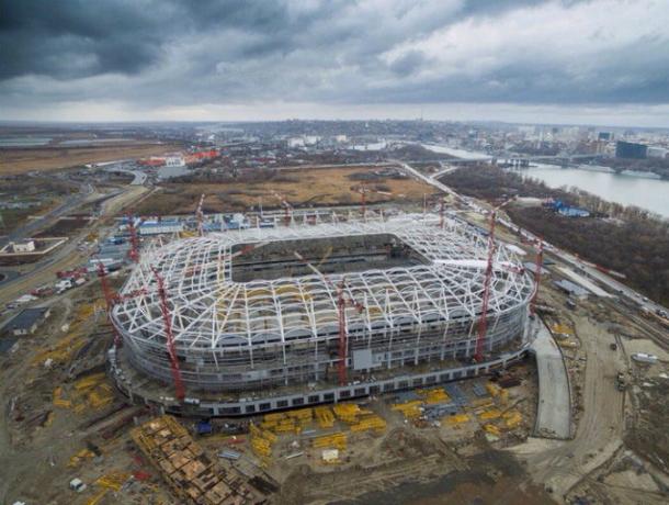 Настадионе «Ростов-Арена» небудет зрительских сидений сподогревом