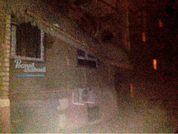 ВРостове впереулке Жлобинском ветром сдуло балкон