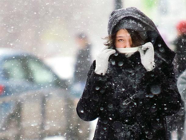 Похолодание с обильным снегопадом принесет северный ветер в Ростов в начале рабочей недели