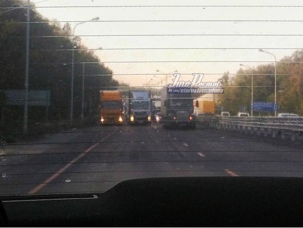 Перекрывшие трассу «чудаки» на трех фурах создали многокилометровую пробку под Ростовом