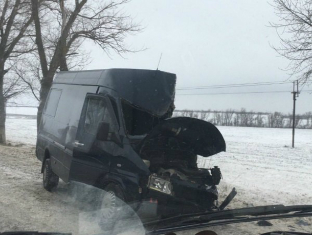 Коммерческий микроавтобус разбился одерево натрассе под Ростовом