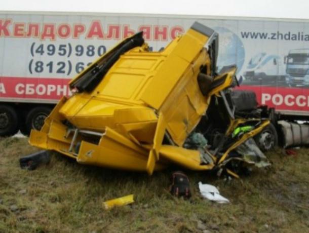 ВЛипецкой области натрассе М-4 опрокинулся грузовой автомобиль