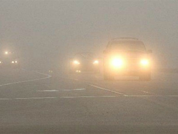 Ослепляющим автомобилистов опасным туманом заволокло трассы в Ростовской области
