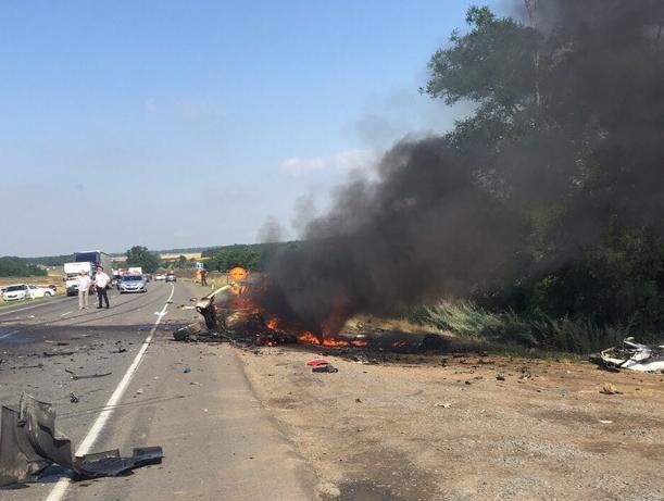 В сети появилось видео страшной аварии на Северном обходе Ростова