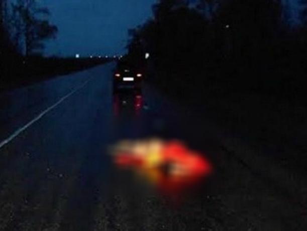 Иномарка насмерть сшибла женщину-пешехода на мокрой трассе под Ростовом