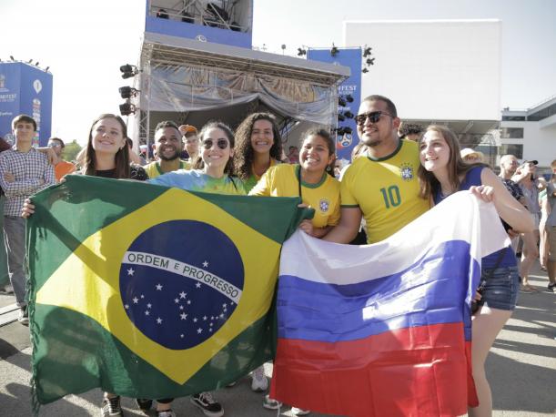Тысячи ярких фанатов прилетели в Ростов из Бразилии на ЧМ