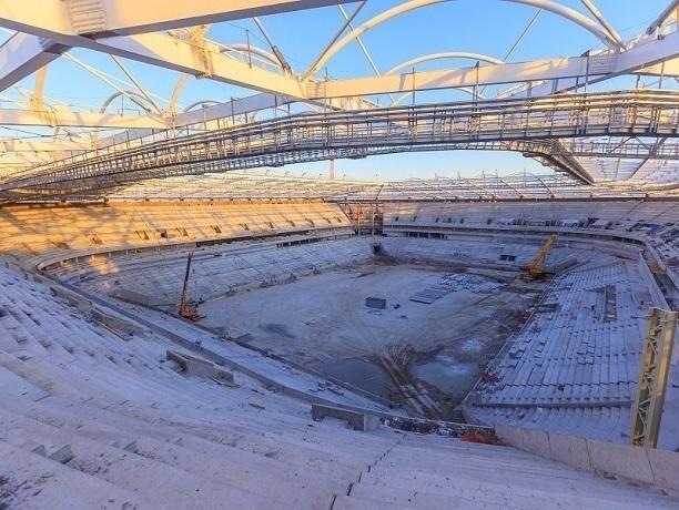 Стадион «Ростов-Арена» строят неменее  1,2 тыс рабочих