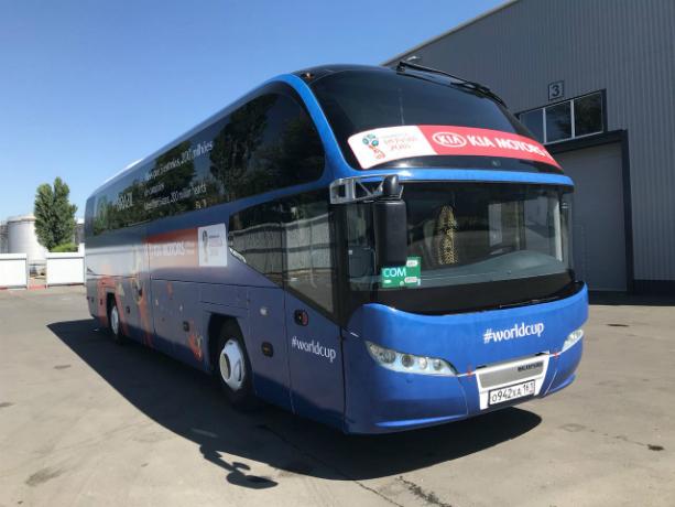 Автобусы с холодильником подготовили для сборных Бразилии и Швейцарии в Ростове