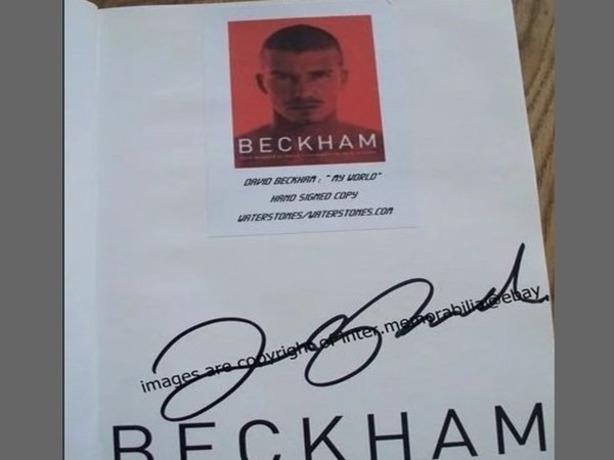 Книгу с автографом красавчика Дэвида Бекхэма без сожаления продает житель Ростова