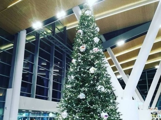 Шарами с мировыми флагами украсили новогоднюю елку в аэропорту Ростова-на-Дону