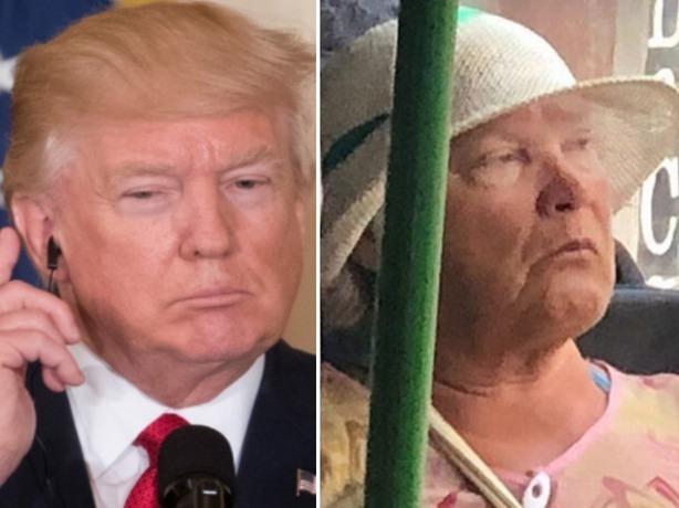 «Дональд Трамп» на секретном задании в маршрутке Ростова довел горожан до истерики под столом