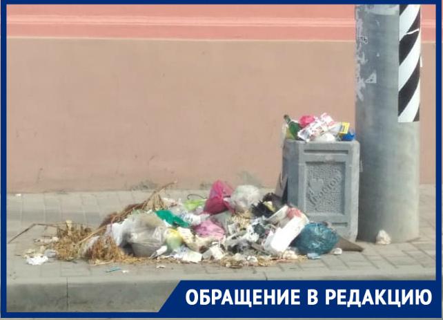 «Стыдоба, вцентре Ростова мусорную кучу неубирают целую неделю»»: ростовчанка пожаловалась на«качественную» работу коммунальщиков