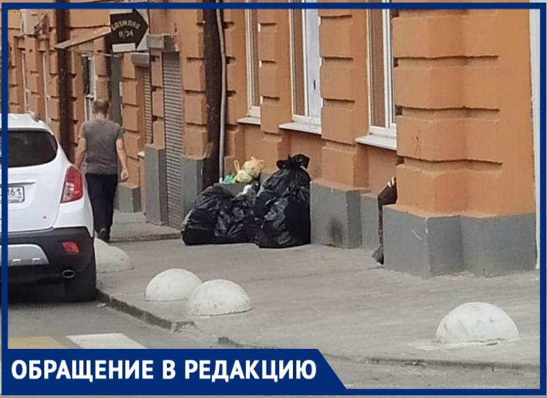 «Урну убрали, нопроблему это нерешит»: ростовчанка возмущена мусором вСоборном переулке