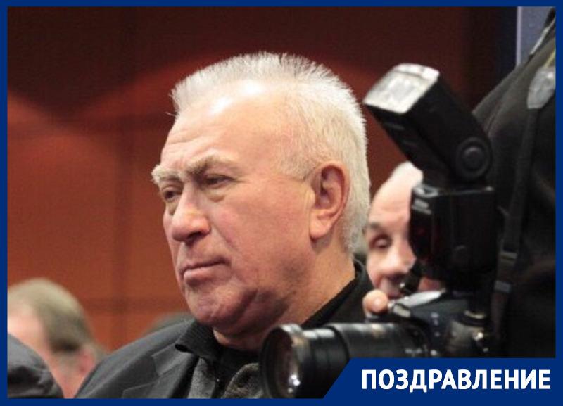 Ветеран ростовского футбола Валерий Синау празднует день рождения