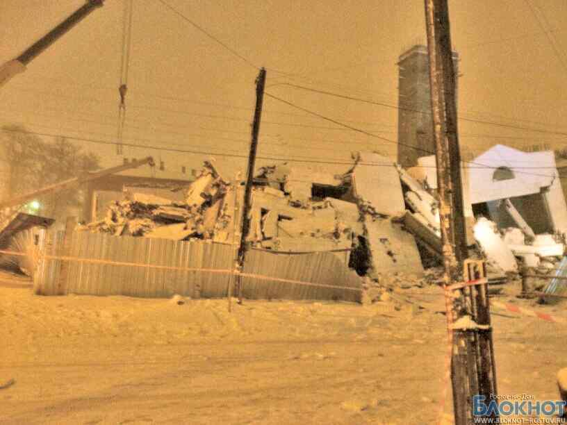 В центре Таганрога обрушилось строящееся здание: есть погибшие и пострадавшие