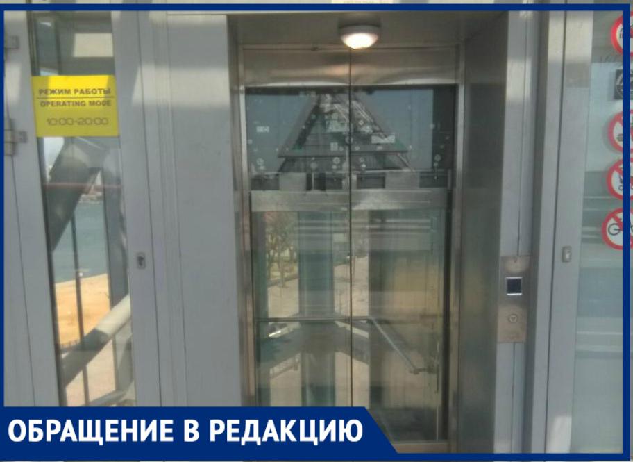 «Ихстроили для показухи перед иностранцами?»: ростовчанин пожаловался нанеработающие лифты наВорошиловском мосту