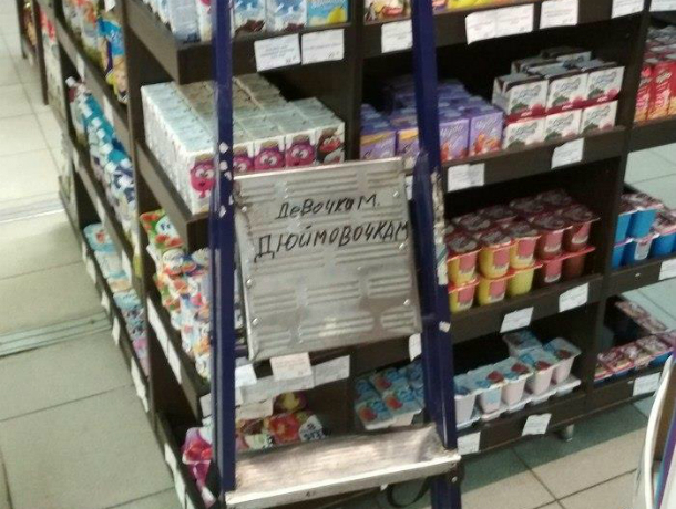 О «девочках-дюймовочках» позаботились сотрудники ростовского супермаркета