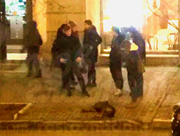 Ростовчане на белой иномарке сбили собаку в центре Ростова и смотрели на ее предсмертные муки