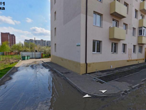 Жители умоляют вытащить из болота новый многоквартирный дом в Ростове