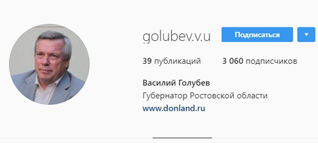 Каждый день Василий Голубев выкладывает фото в Instagram