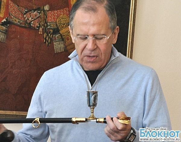 Глава МИД РФ отметил день рождения в Ростовской области: Сергея Лаврова посвятили в казаки