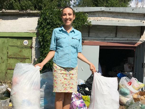 Красотка спасает природу, сортируя дома мусор и сдавая на вторпереработку в Ростове