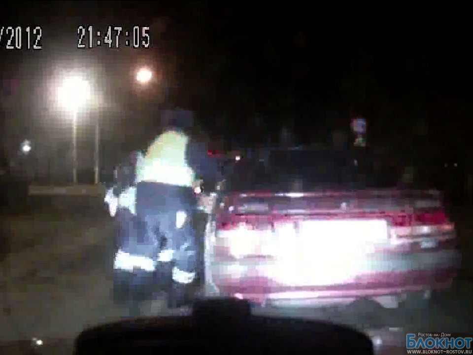 В Ростовской области полицейские сняли на видео погоню за лихачем