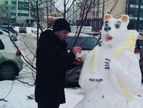 Раскрыта тайна личности снежного скульптора Сергея из Ростова