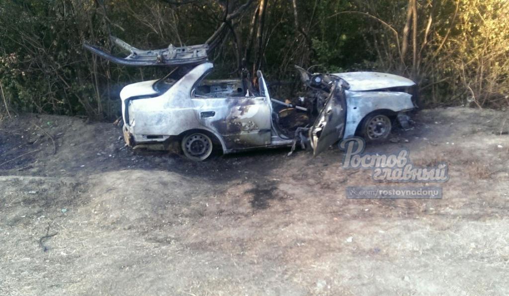 ВРостове старый мужчина сгорел в своем автомобиле