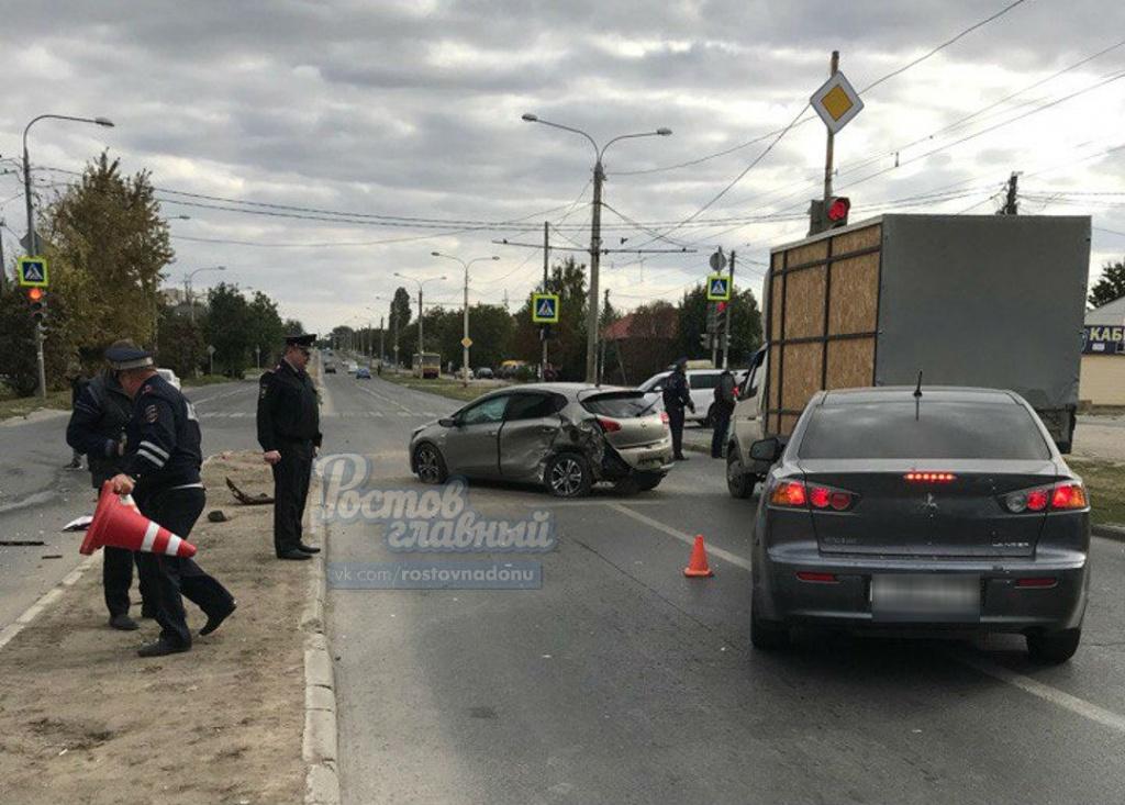 Несовершеннолетний шофёр «Лады» спровоцировал ДТП вРостове